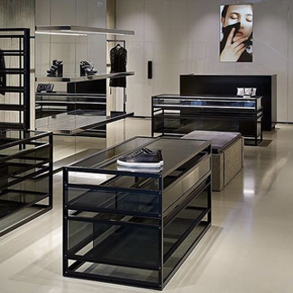 Polished concrete overlay: McQ Alexander McQueen, Westfield, London