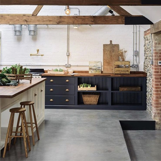 Polished concrete: The Old Cow Barn, Norfolk