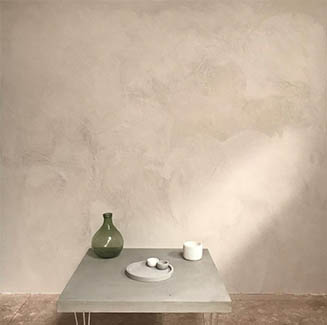 Dalla Mano Collection - Table and Microcement Wall