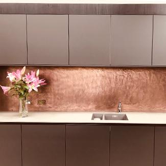 Decorative Finishes - Copper Splasback