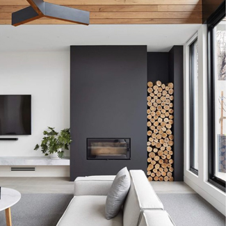 Microcement - Chimney Breast